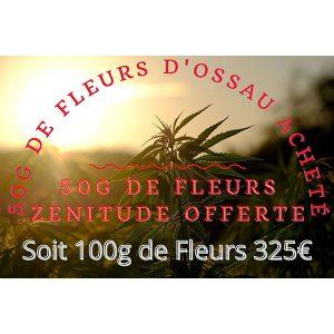 promotion 100g de fleurs CBD